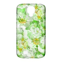 Light Floral Collage  Samsung Galaxy S4 Classic Hardshell Case (pc+silicone)