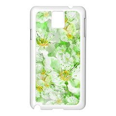 Light Floral Collage  Samsung Galaxy Note 3 N9005 Case (white)