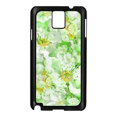 Light Floral Collage  Samsung Galaxy Note 3 N9005 Case (black)
