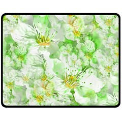 Light Floral Collage  Double Sided Fleece Blanket (medium)