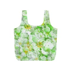 Light Floral Collage  Full Print Recycle Bags (s)