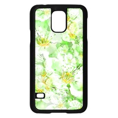 Light Floral Collage  Samsung Galaxy S5 Case (black)