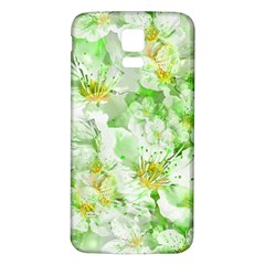 Light Floral Collage  Samsung Galaxy S5 Back Case (white)