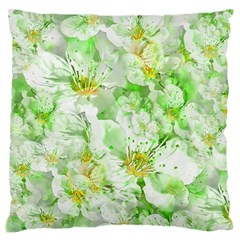 Light Floral Collage  Large Flano Cushion Case (one Side)