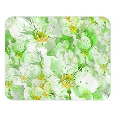 Light Floral Collage  Double Sided Flano Blanket (large)