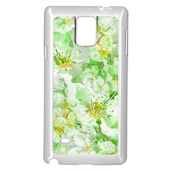 Light Floral Collage  Samsung Galaxy Note 4 Case (white)