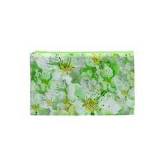 Light Floral Collage  Cosmetic Bag (xs)