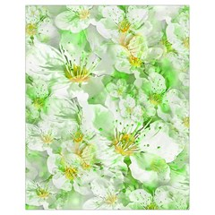 Light Floral Collage  Drawstring Bag (small)