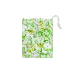 Light Floral Collage  Drawstring Pouches (xs)