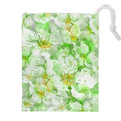 Light Floral Collage  Drawstring Pouches (xxl)