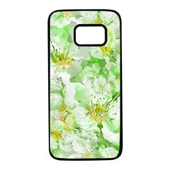 Light Floral Collage  Samsung Galaxy S7 Black Seamless Case