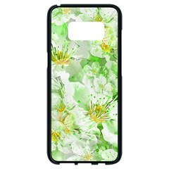 Light Floral Collage  Samsung Galaxy S8 Black Seamless Case