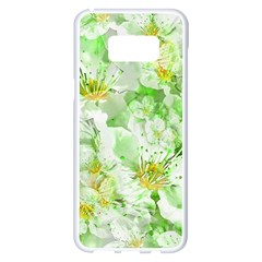 Light Floral Collage  Samsung Galaxy S8 Plus White Seamless Case
