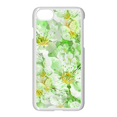 Light Floral Collage  Apple Iphone 8 Seamless Case (white)