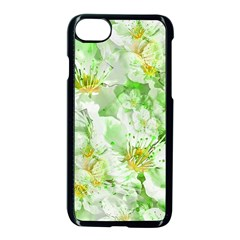 Light Floral Collage  Apple Iphone 8 Seamless Case (black)