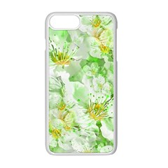 Light Floral Collage  Apple Iphone 8 Plus Seamless Case (white)