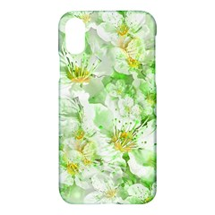 Light Floral Collage  Apple Iphone X Hardshell Case