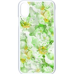 Light Floral Collage  Apple Iphone X Seamless Case (white)