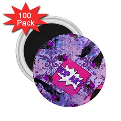 Purlpe Retro Pop 2 25  Magnets (100 Pack)