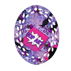 Purlpe Retro Pop Ornament (oval Filigree)