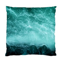 Green Ocean Splash Standard Cushion Case (one Side)