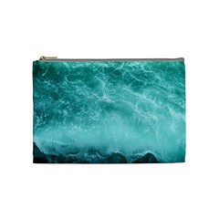 Green Ocean Splash Cosmetic Bag (medium)