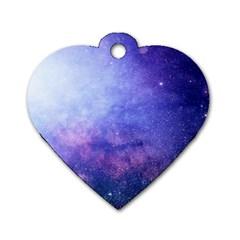 Galaxy Dog Tag Heart (one Side)