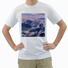 In The Clouds Men s T Shirt (white) (two Sided)