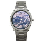 In The Clouds Sport Metal Watch Front