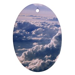 In The Clouds Oval Ornament (two Sides)