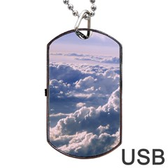 In The Clouds Dog Tag Usb Flash (one Side)