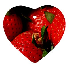 Red Strawberries Ornament (heart)