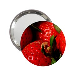 Red Strawberries 2 25  Handbag Mirrors