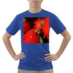 Red Strawberries Dark T Shirt