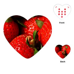 Red Strawberries Playing Cards (heart)