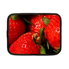 Red Strawberries Netbook Case (small)
