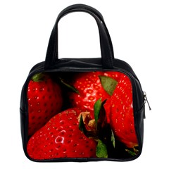 Red Strawberries Classic Handbags (2 Sides)