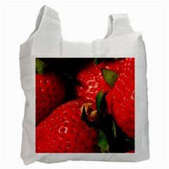 Red Strawberries Recycle Bag (one Side)