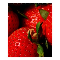 Red Strawberries Shower Curtain 60  X 72  (medium)
