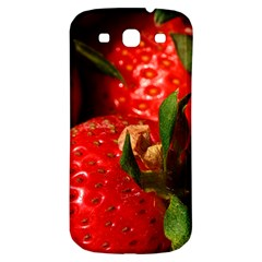 Red Strawberries Samsung Galaxy S3 S Iii Classic Hardshell Back Case