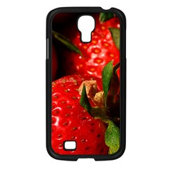 Red Strawberries Samsung Galaxy S4 I9500/ I9505 Case (black)