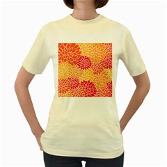 Abstract 1296710 960 720 Women s Yellow T Shirt