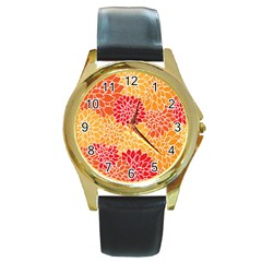 Abstract 1296710 960 720 Round Gold Metal Watch