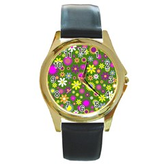 Abstract 1300667 960 720 Round Gold Metal Watch
