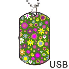 Abstract 1300667 960 720 Dog Tag Usb Flash (one Side)