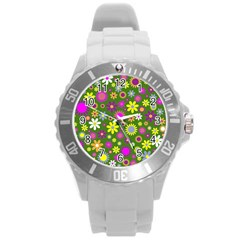 Abstract 1300667 960 720 Round Plastic Sport Watch (l)
