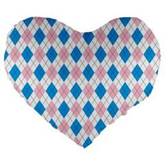 Argyle 316838 960 720 Large 19  Premium Flano Heart Shape Cushions