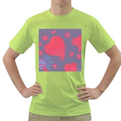Lollipop Attacked By Hearts Green T Shirt