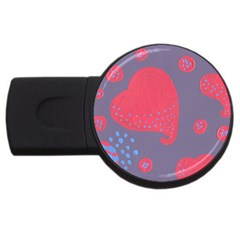 Lollipop Attacked By Hearts Usb Flash Drive Round (4 Gb)