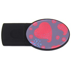 Lollipop Attacked By Hearts Usb Flash Drive Oval (4 Gb)